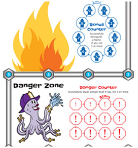 Four Alarm Blaze, the Be Fire Safe Print-n-Play Game